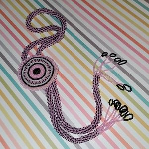 Vintage Beaded Bolo Style Necklace